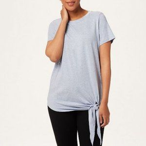 AnyBody Loungwear Cozy Knit Tie Front Top 3961